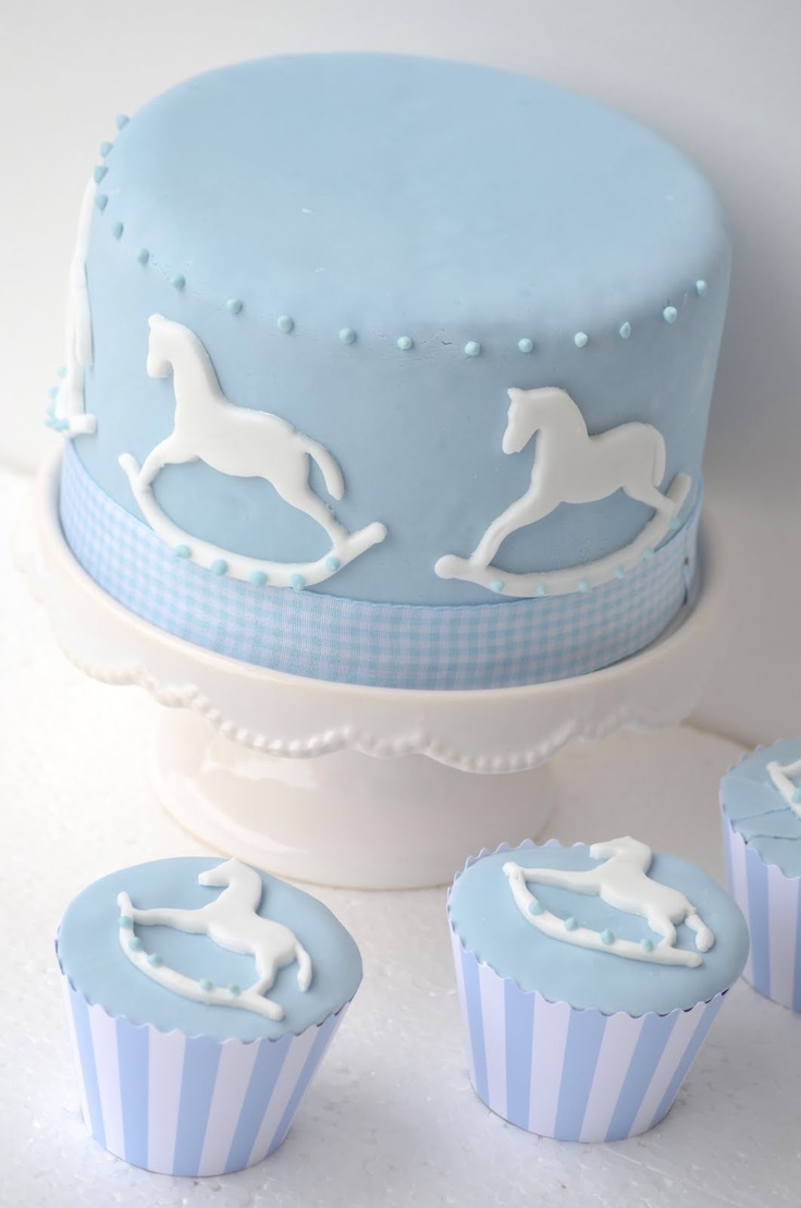 Rocking Horse Cake Design : 17 best images about Jessica s Baby Shower on Pinterest