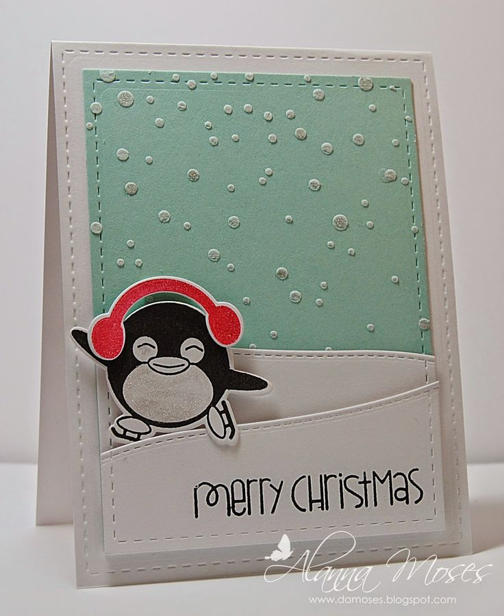 Alanna's Spot in the World; Penguin Fun; Clearly Whimsy Stamps; Stitched Border Trio Die