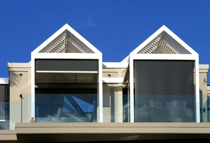 Modern Outdoor Retractable Blinds and Awnings. Issey Sun Shade Systems Vertiroll