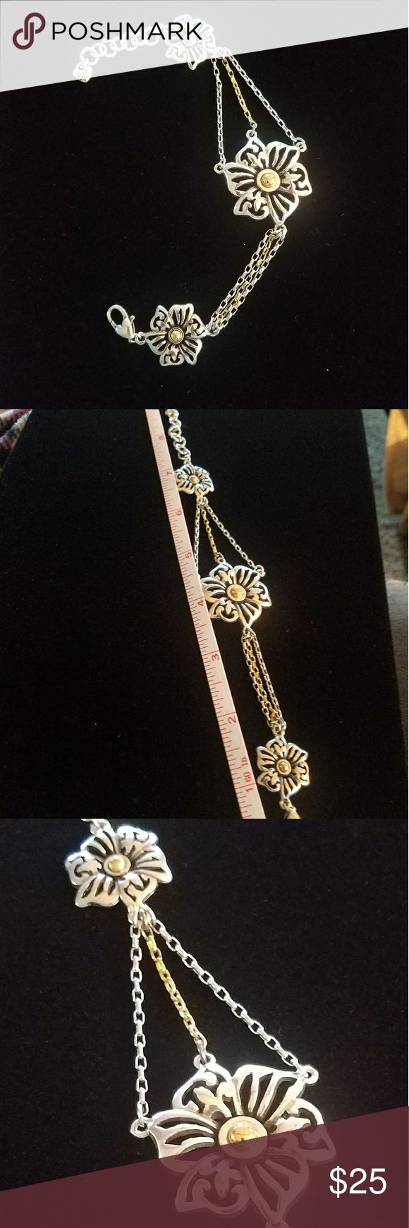 Brighton bracelet Two tone. Will fit 7.5 to 9 inch. Nice. Brighton Jewelry Bracelets
