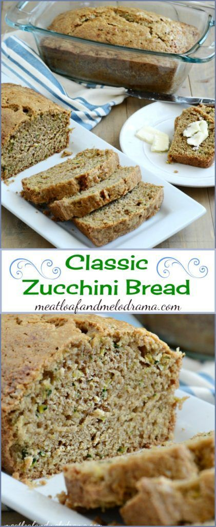 Classic Zucchini Bread -- This easy recipe makes enough for 2 loaves and is perfect for breakfast or snacks!