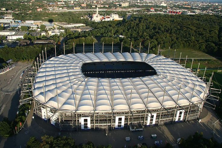 Hamburger SV - Volksparkstadion after the rebuild.  Saw Italy v. Czech Republic here during the 2006 World Cup.