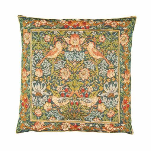 The Morris Strawberry Thief Tapestry Cushion Cover has a sumptuous velvet back, part of the tapestry collection at English Heritage. Buy the Morris Strawberry Thief Tapestry Cushion Cover online at the English Heritage shop. Other Morris Strawberry Thief items available.