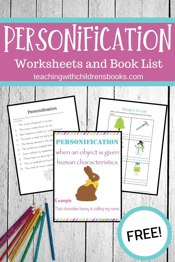 Teaching Personification With Picture Books In 2020 Personification Activities Writing Lessons Teaching Figurative Language