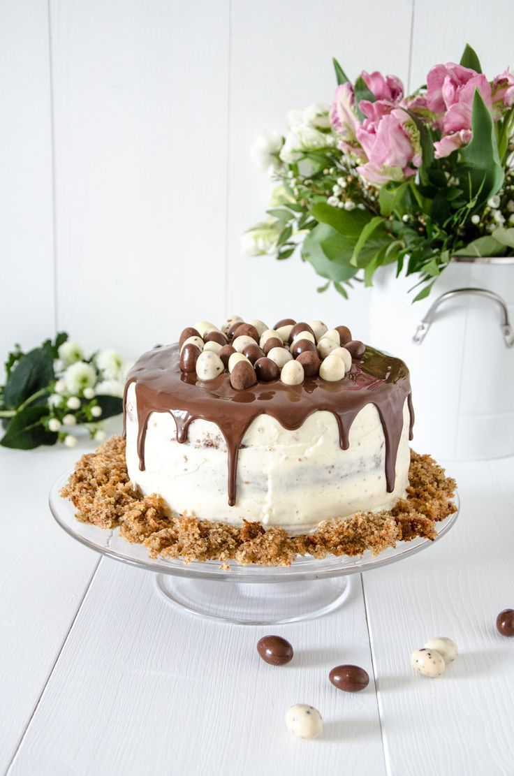 Carrot Cake for Easter with Cream Cheese Frosting and Chocolate Drip // Carrot Cak …   – Yummy