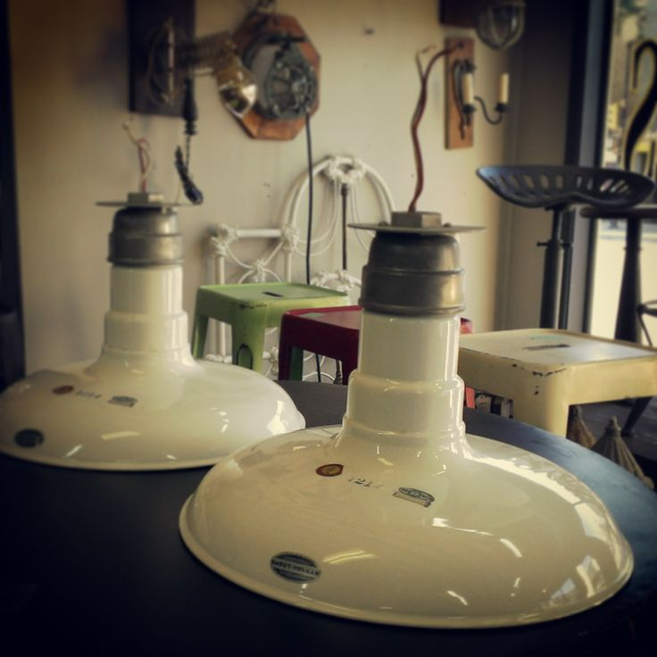 Industrial Hanging Lights ~ #industrial #lighting #white #hanginglights #home #decor *JoJo's Place www.jojosplace.com