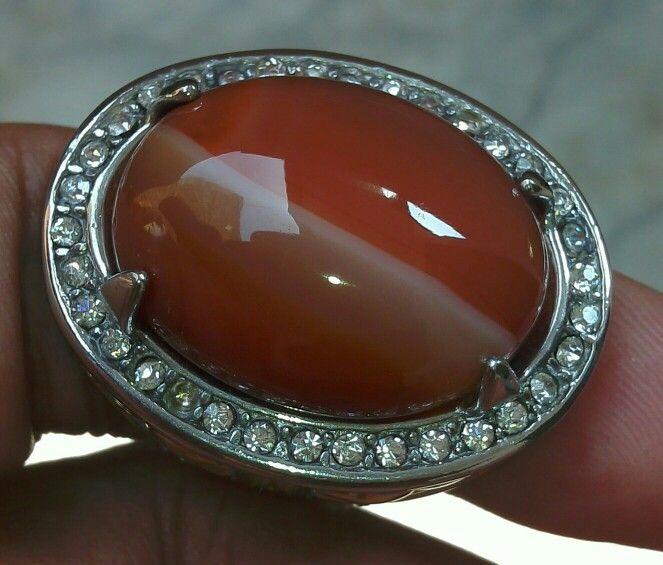 Batu cincin sulaiman kendit Natural agate dari Pacitan Jawa Timur. Dengan paduan warna yang rapi bagai lukisan. Istimewa  !!!!!