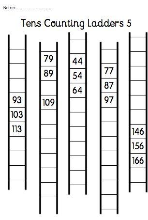 tens counting ladders tens counting ladders contains 7 worksheets to encourage students to. Black Bedroom Furniture Sets. Home Design Ideas