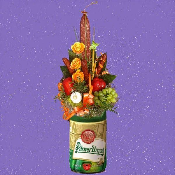 Květinové Taxi - Klobásová kytice Terno