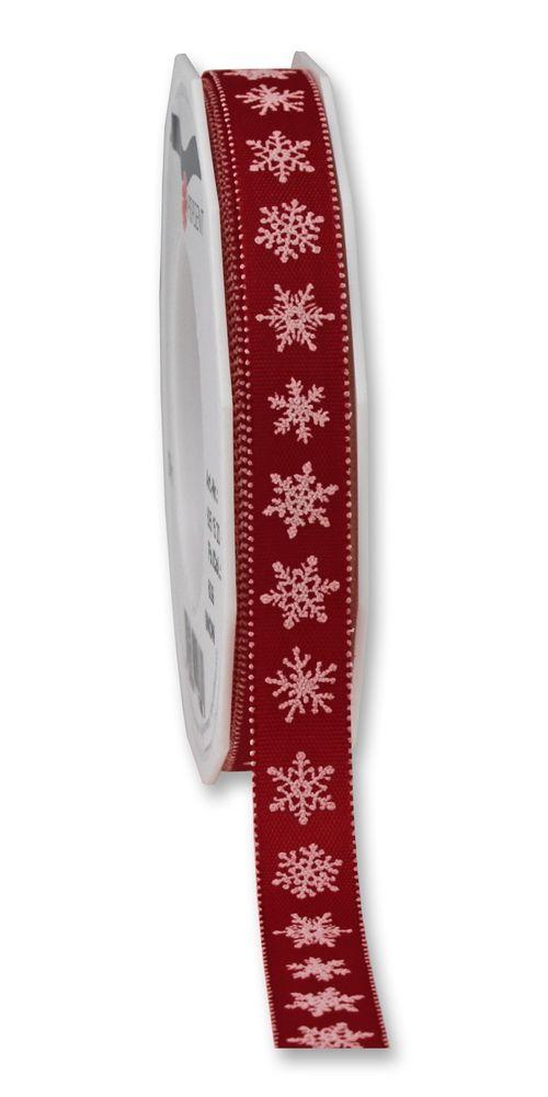Weihnachtsband Snow bordeaux