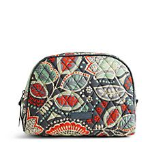 Large Zip Cosmetic in Nomadic Floral | Vera Bradley