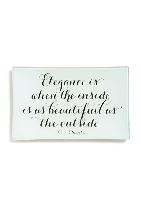 Coco Chanel Decorative Glass Tray