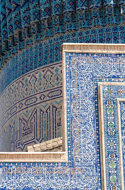 Gur-e Amir (Guri Amir, گورِ امیر) Mausoleum, Samarkand (Samarqand, Самарқанд, سمرقند), Uzbekistan (O'zbekiston, Ўзбекистон) by Loïc BROHARD, via Flickr