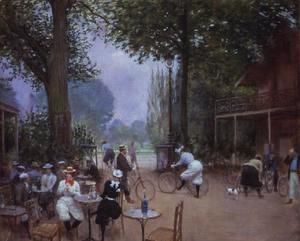 The Chalet du Cycle in the Bois de Boulogne, c.1900  Jean-Georges Beraud