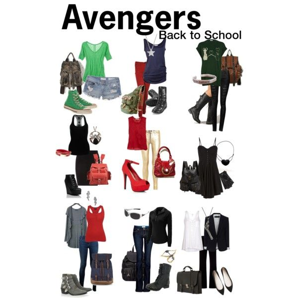 """""""Avengers Back-to-school"""" by totallytrue on Polyvore"""