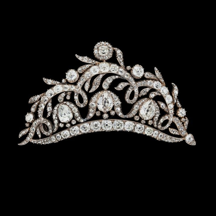 Diamond tiara, the size of the diamonds are massive! Not sure of the hallmark or country~