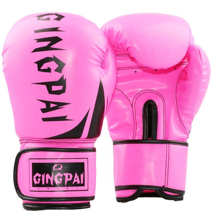Adults Boxing Gloves PU Women//Men Sanda MMA Muay Thai Karate Mitts Training Pro