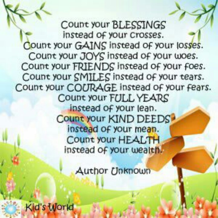 Quotes About Counting Your Blessings: 17 Best Images About Zegeningen On Pinterest