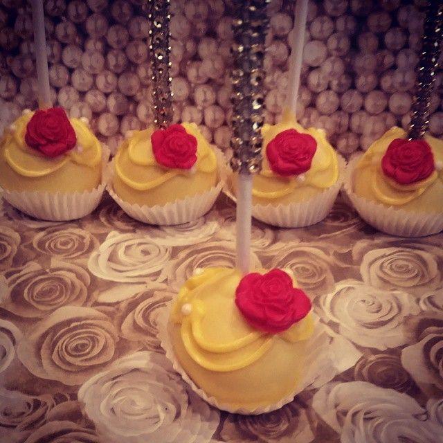 Beauty and The Beast inspired cake pops www.popsbyjenn.com www.facebook.com/popsbyjenn