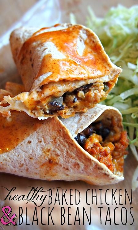 Healthy Baked Chicken black bean Tacos