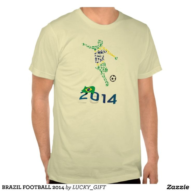 BRAZIL FOOTBALL WORLD CUP 2014 T SHIRTS. get it on : http://www.zazzle.com/brazil_football_2014_t_shirts-235564392415635936?rf=238054403704815742