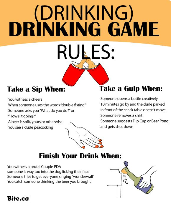 How to have a drinking-themed drinking game