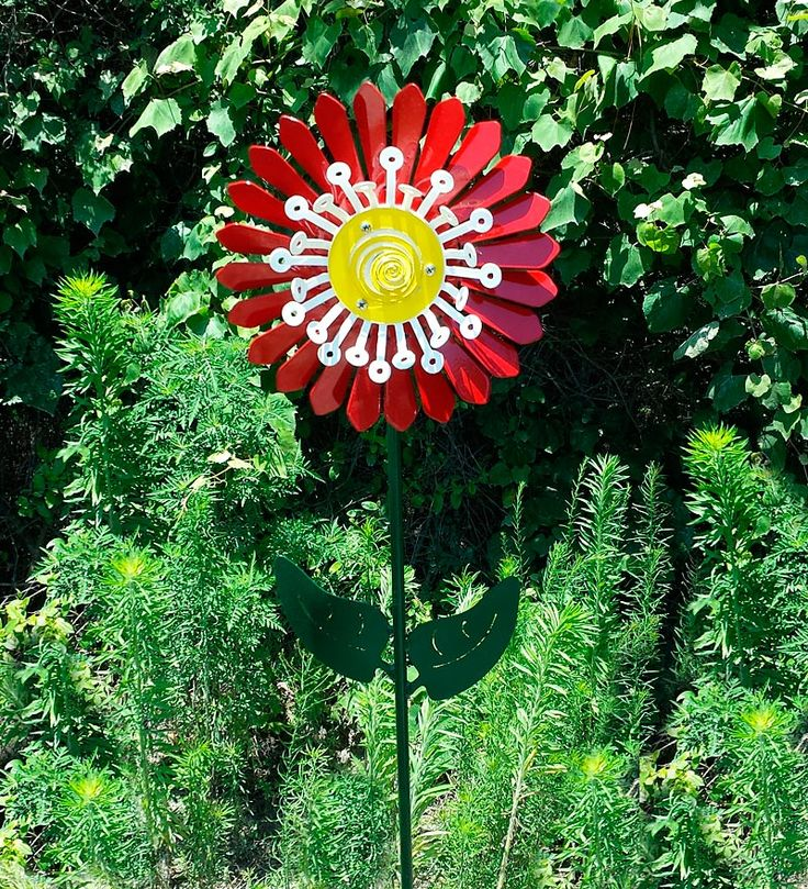 Flower (wind) Power Takes On A While New Meaning With This Handcrafted  Steel Flower Whirligig!