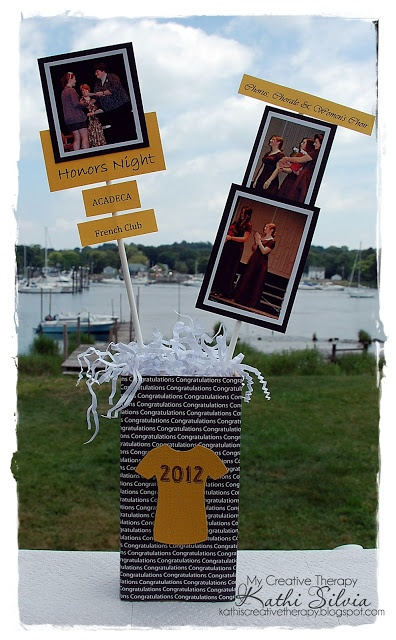 Love this centerpiece idea to show the graduate's interests and activities.