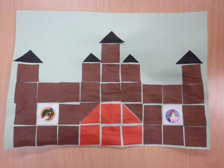 Het pietenhuis van blokjes (16 vierkantjes)
