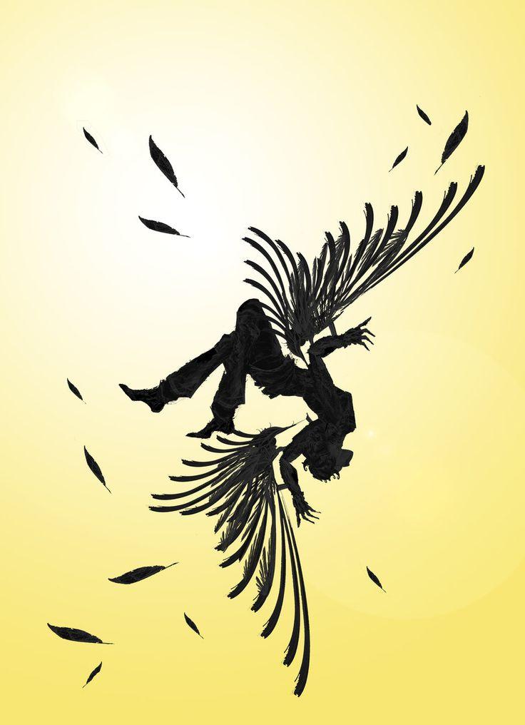 Icarus+Falling+by+rockgem.deviantart.com+on+@DeviantArt