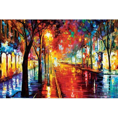 Andover Mills Street of the Old Town'  Painting Print on Wrapped Canvas Size: