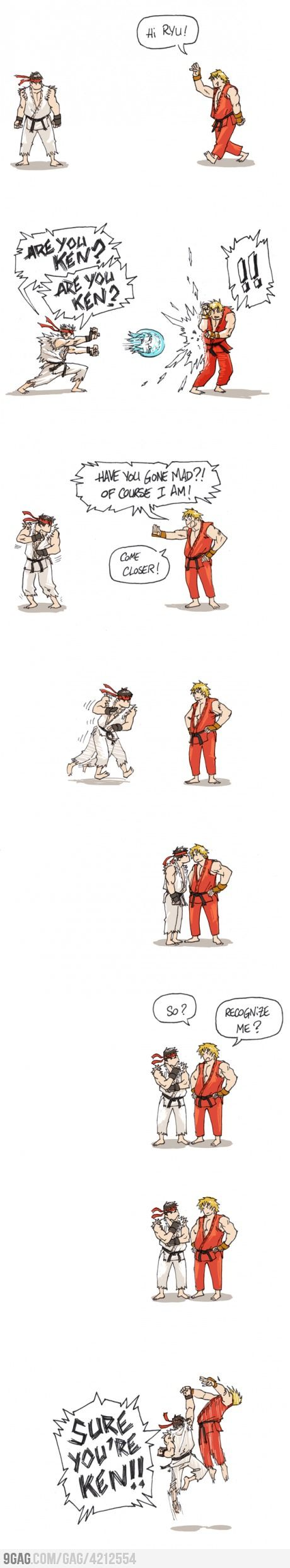 Especially if you've played Street Fighter before... shout out Ryu's moves and you'll understand this :-)