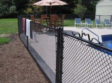 Best 25 Black Chain Link Fence Ideas On Pinterest Fence
