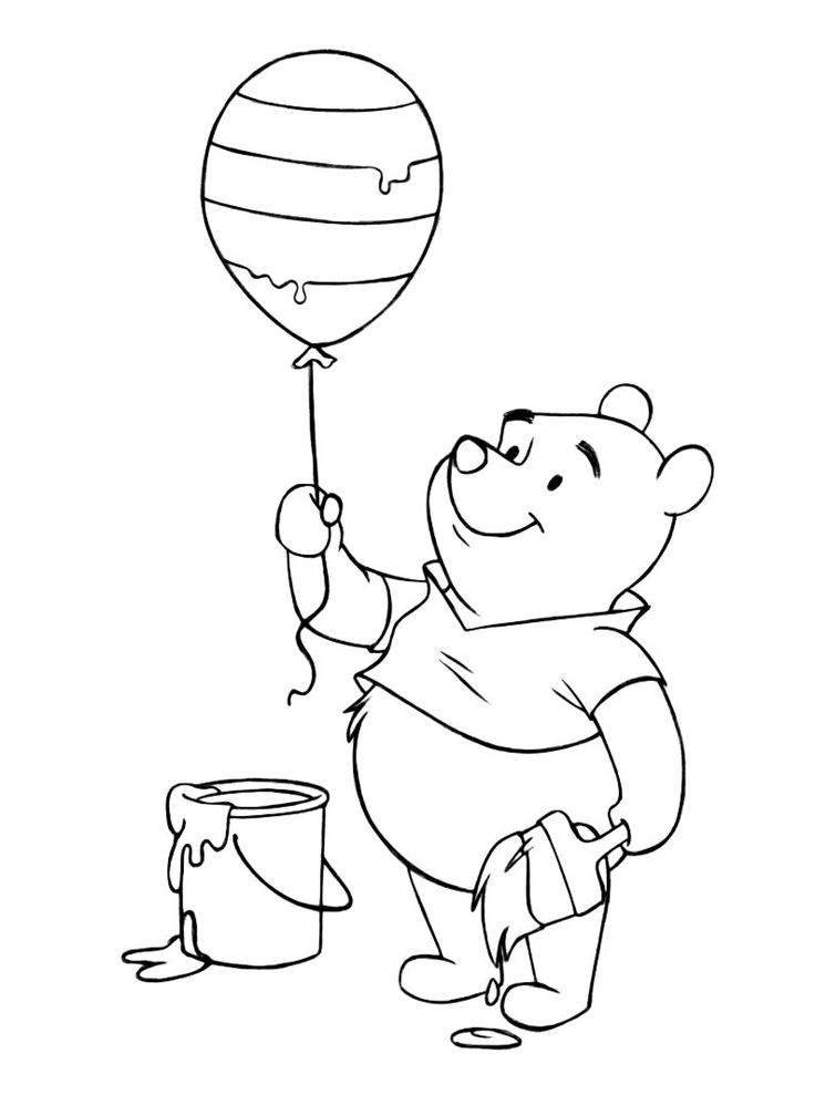 winnie the pooh coloring pages printable winnie the pooh easter balloon coloring page printables