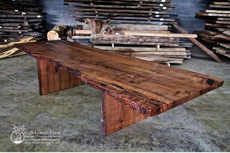 1000 images about rustic dining room tables on pinterest Wood slab furniture