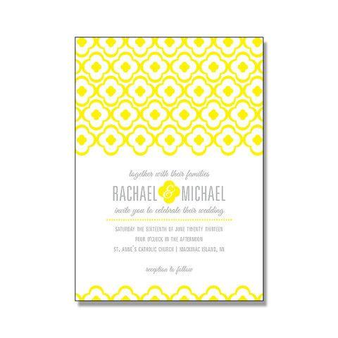 DANICA Suite Basic Package. Yellow Wedding InvitationsLetterpress ...