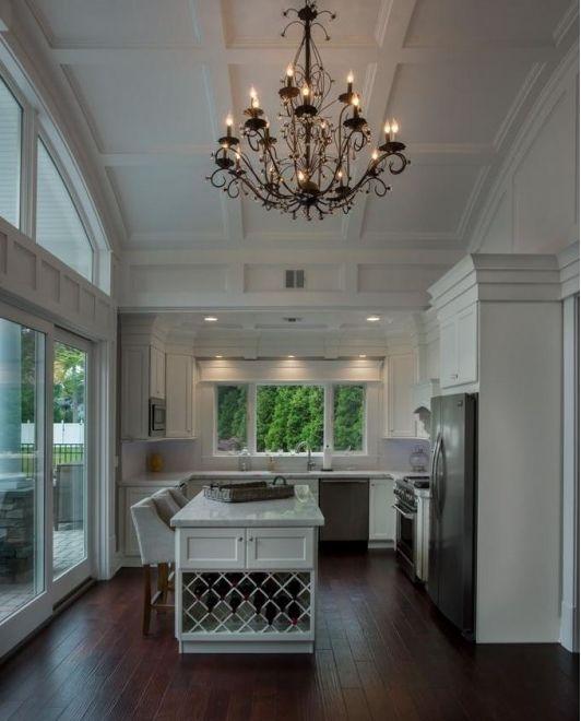 Kitchen Design With White Barstools
