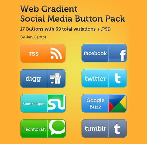 Web Social Media Button