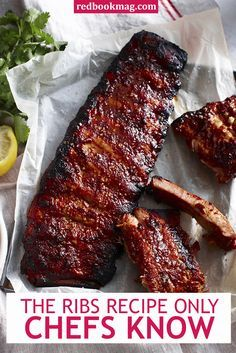The Ribs Recipe Only Chefs Knew Make it in pressure cooker. 25 min, 1 can beer and 3/4 cup BBQ sauce. Wolfgang Puck recipe.