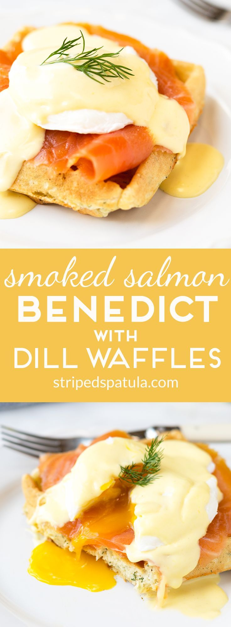 Served atop crisp, savory dill waffles, Smoked Salmon Eggs Benedict combines some of the best flavors of brunch into a single bite!