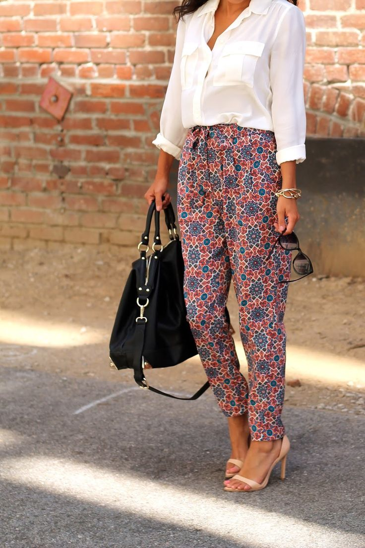 Life, Love and the Pursuit of Shoes: Desk to Drinks: Printed Trousers