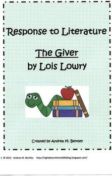Visual Analysis Essay Sample The Giver By Lois Lowry  Response To Literature  Tpt Language Arts  Lessons  Literature Teaching Writing Writing What Is A Synthesis Essay also An Essay On My School The Giver By Lois Lowry  Response To Literature  Tpt Language Arts  Essay On The Internet