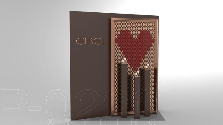 Vitrines St-Valentin / Valentine's Day Windows designed by Pozzo di Borgo Styling.