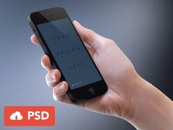 Black iPhone Mockup PSD by Joe Mortell #psd #freebie #download #iphone