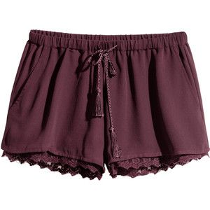 H&M Shorts with a lace trim