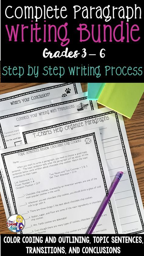 strategies in writing a paragraph lesson