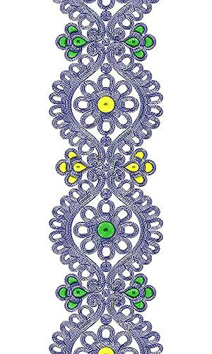Couture Luscious Lace Embroidery Design