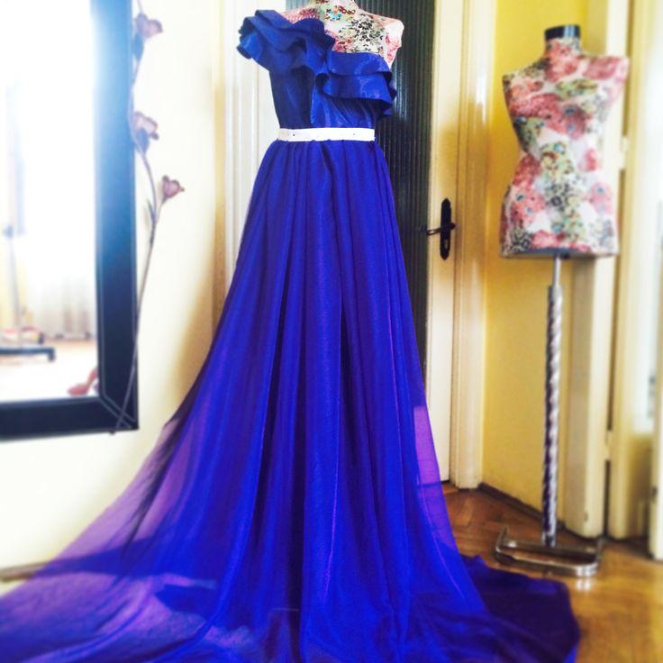 Blue-cobalt dress