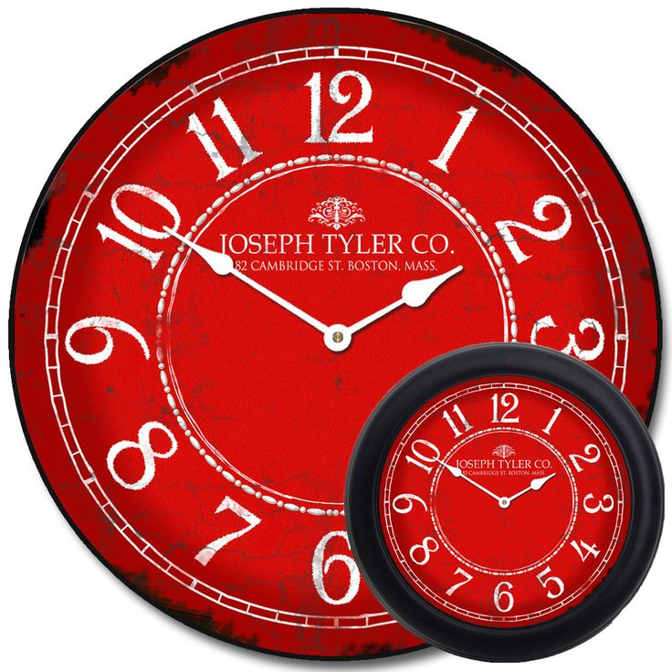 large red clock - Red & White Clock mix