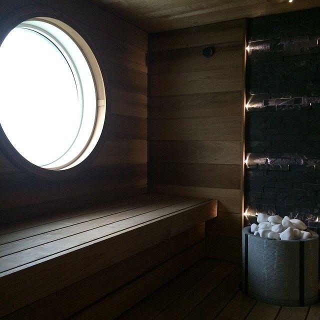 #tulikivi #sauna #heater #Naava #soapstone #naturalstone #marble #round #window #woodpanel